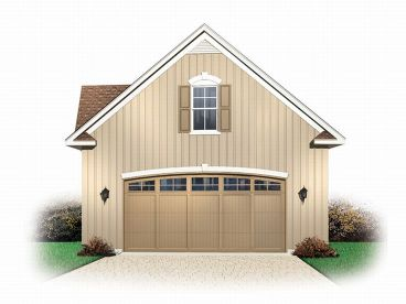 2-Car Garage Loft Plan, 028G-0014