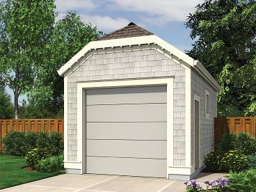 One-Car Garage Plan, 034G-0018