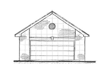 Two-Car Garage Plan, 031G-0006