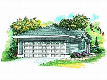 Two-Car Garage Plan, 033G-0003