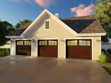Three-Car Garage Plan, 050G-0074