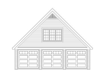 3-Car Garage Loft Plan, 006G-0075