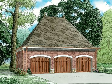 Three-Car Garage Plan, 025G-0007