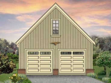 Two Car Garage Plan, 006G-0026