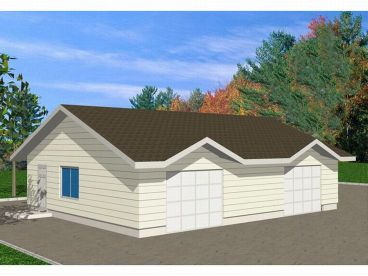 Drive-Thru Garage Plan, 012G-0018