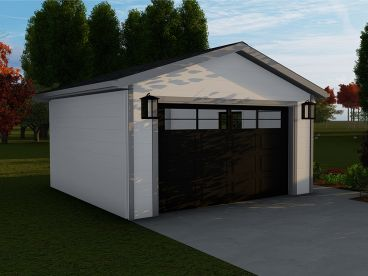 1-Car Garage Plan, 065G-0015