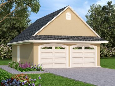 2-Car Garage Plan, 021G-0009