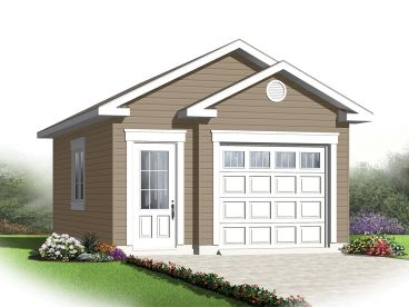 1-Car Garage Plan, 028G-0050