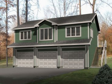 Garage Apartment Plan, 005G-0002