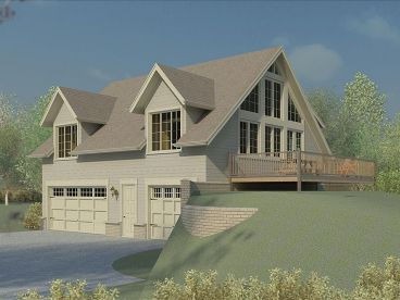 Sloping Lot Garage Plan, 006G-0107