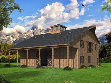 Pole Barn Plan, Left Front, 062B-0007