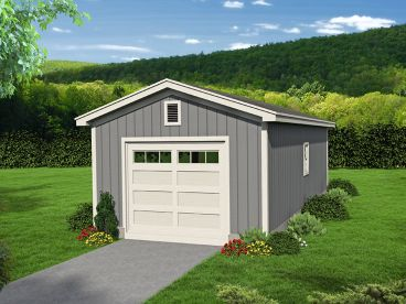1-Car Garage with Boat Storage, 062G-0096