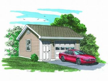 Detached 1-Car Garage, 033G-0012