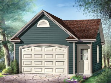 1-Car Garage Plan, 072G-0019