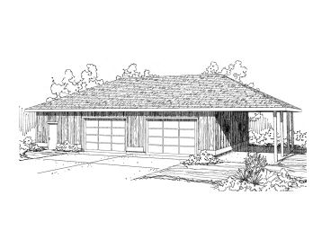 Garage Workshop Plan, 051G-0049