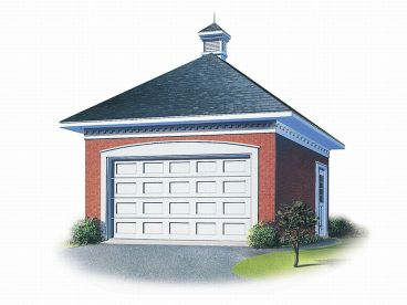 1-Car Garage Plan, 028G-0003