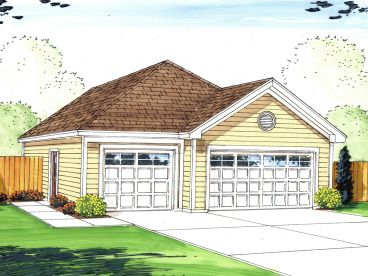 6-Car Garage Plan, 050G-0057