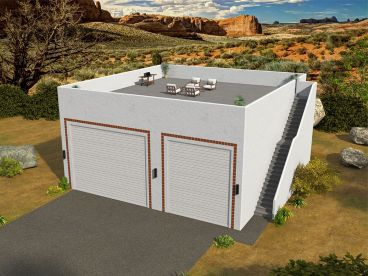 RV Garage Plan, 062G-0134