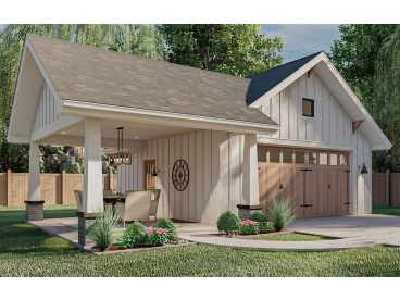 Garage Plan with Carport, 050G-0030