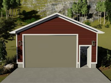 Garage Plan with Boat Storage, 065G-0014