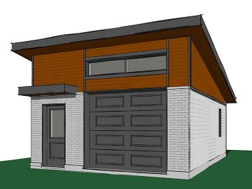 Modern 1-Car Garage Plan, 028G-0059