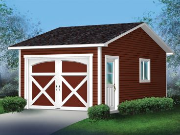 Detached Garage Plan, 072G-0003