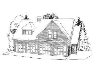 Garage Apartment Plans | 4-Car Garage Apartment Design #053G-0001 ...