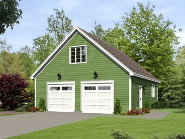 Garage Plan with Boat Storage, 062G-0088