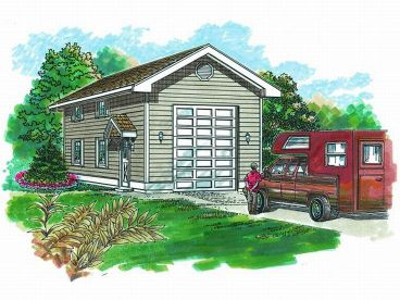 RV Garage Plan, 033G-0015