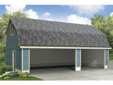 Unique Carport Plan, 051G-0073