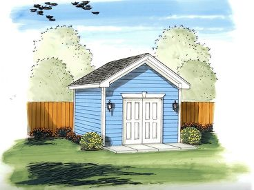 Garden Shed Plan, 050S-0010