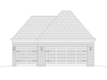 Garage Plan with Boat Storage, 006G-0175