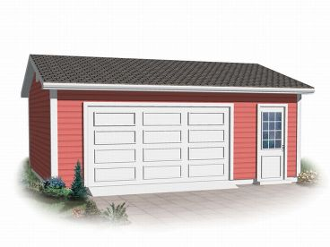 2-Car Garage Plan, 028G-0024