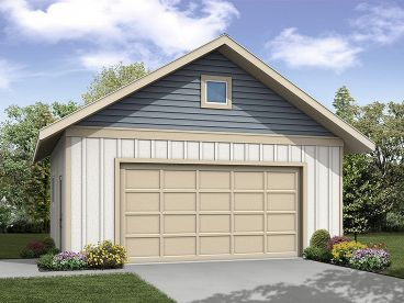 Two-Car Garage Plan, 051G-0096