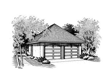 2 Car Garage Plan, 021G-0004