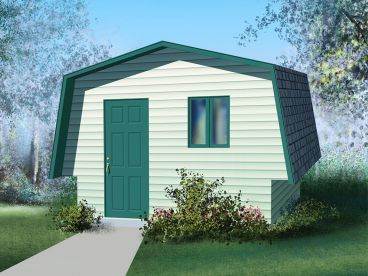 Utility Shed Plan, 072S-0004