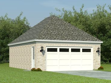Garage Plan with Storage, 006G-0042
