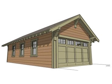 4-Car Garage Plan, 052G-0013