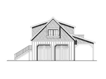 2-Car Garage Loft Plan, 051G-0051