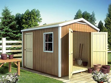 Backyard Storage Shed, 047S-0006