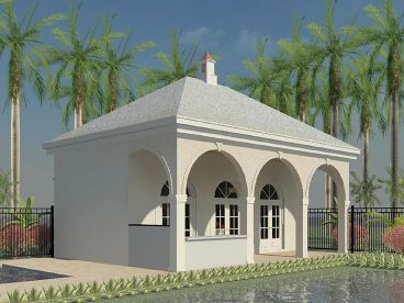 Pool House Plans and Cabana Plans   The Garage Plan ShopPlan P