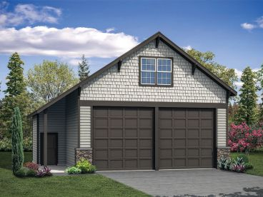 Garage Plan with Loft, 051G-0114