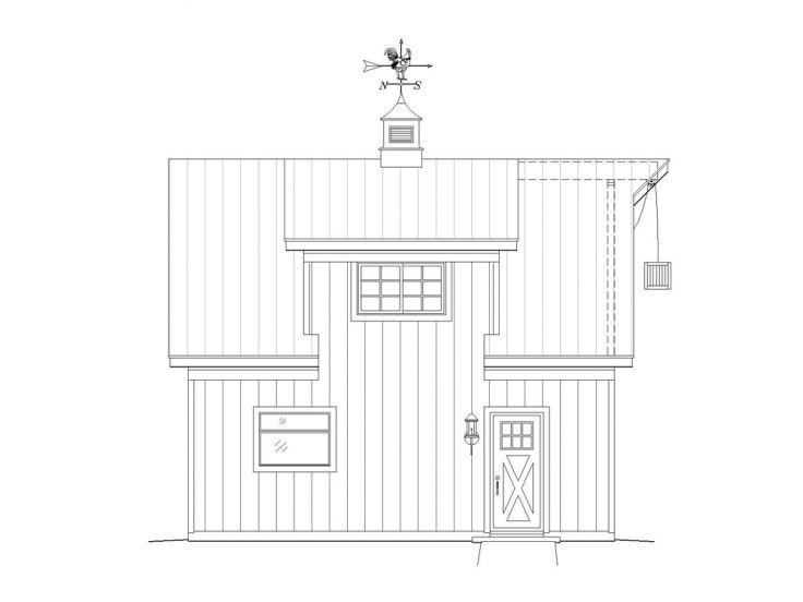 1 car garage plans one car garage plan with loft 062g for Single car garage plans with loft