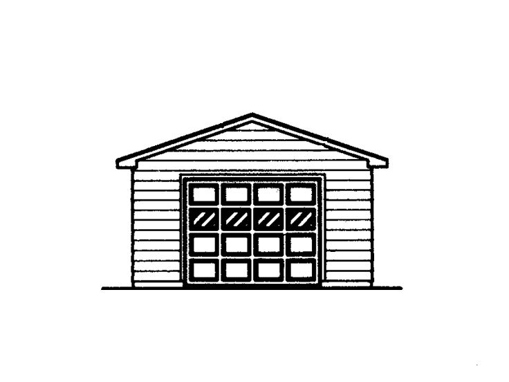 One-Car Garage Plan, 057G-0010