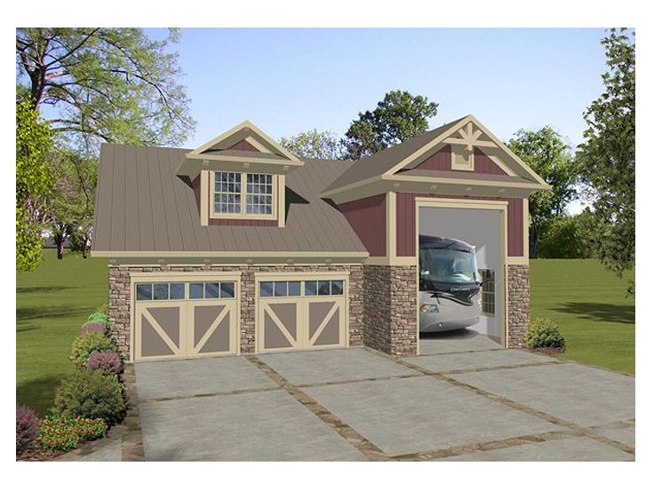 RV Garage Plans | RV Garage Plan with Workshop and Apartment ...