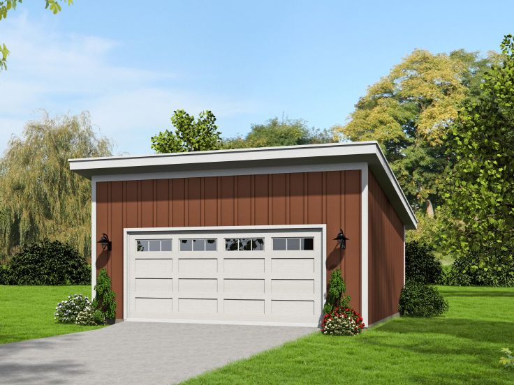 Modern 2-Car Garage Plan, 062G-0054