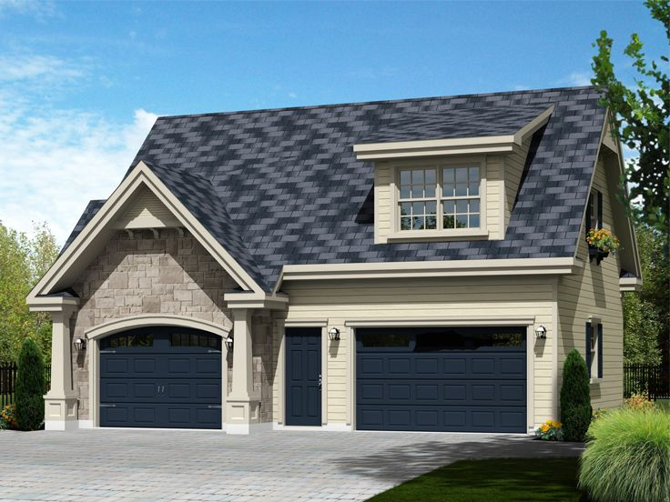 Carriage House Plan With 2-Car