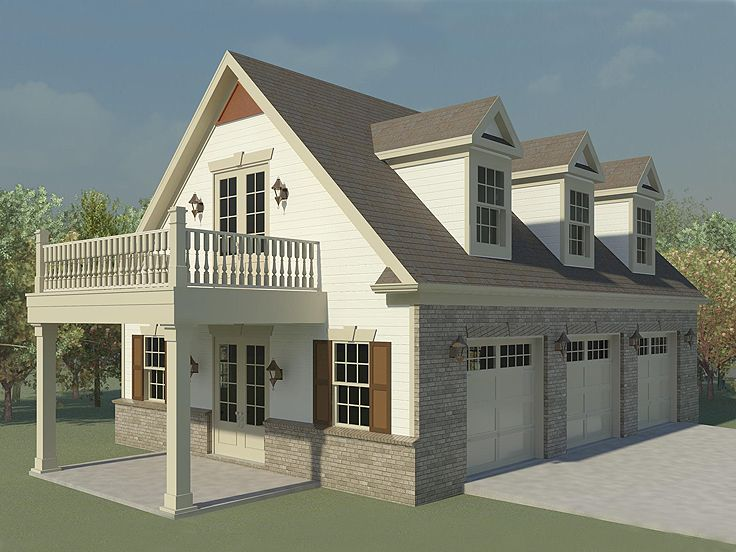 Garage loft plans three car garage loft plan with future for Home designs 3 car garage