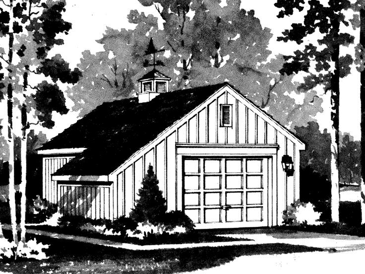 1-Car Garage Plan, 057G-0004