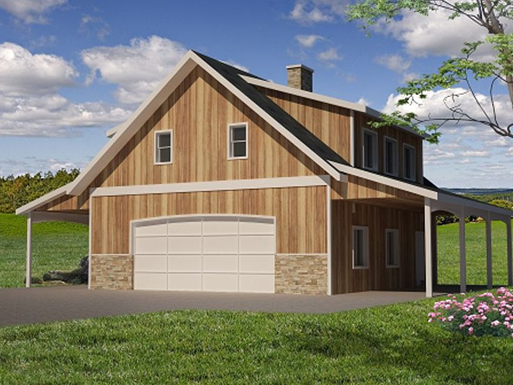 Plan 012g 0063 garage plans and garage blue prints from for Barn apartment ideas